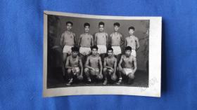 老照片  运动员合影