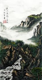 【保真】实力画家刘新全精品山水:溪山清流