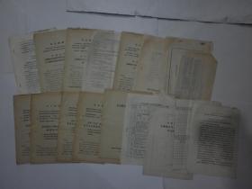 1971年中国共产党运城地区第一次代表大会和地直机关第一次代表大会材料【十五份合售、注意描述】.