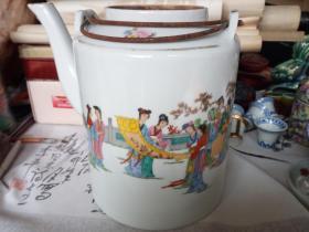 仕女大茶壶