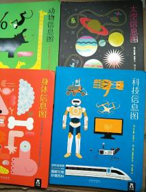 百科信息图系列(共4册):身体信息图、太空信息图、动物信息图、科技信息图