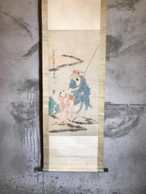 旧藏 珍品名人人物字画,人物逼真,画工精细,保存完整,书房客厅陈列,尺寸170*55厘米,全品