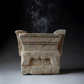 清代石雕香炉 老石雕香炉 老石头 老石刻香炉 老香炉 包老保真 古玩古董 收藏 古代石雕 摆设 陈设