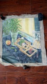 老油画: 长65厘米*60厘米 ,年代不详【油画50】