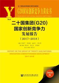 G20国家创新竞争力黄皮书:二十国集团(G20)国家创新竞争力发展报告(2017~2018)