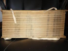 正宗康熙26年1687年大开本竹纸原绫包角万红友堆絮园《词律》11厚册20卷全套。教初印本。近400年保持9品难的。书根部清代人编号。