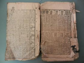 线装:多福通书  (2本和售 残本)
