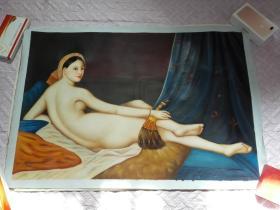 布面油画一张(99X69公分 包手绘)裸体人物【包快递】.