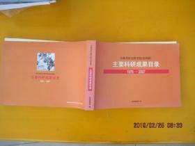 吉林省初会科学院(社科联)主要科研成果目录1978-2007