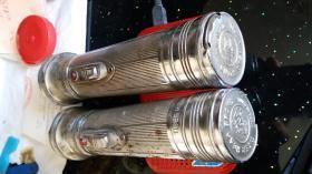 虎头牌手电筒两把(装两节1号电池)(关店甩卖,变现资金)