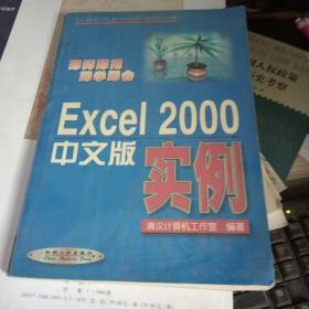 Excel 2000中文版实例