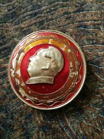 毛主席像章,背面,永远忠于毛主席。
