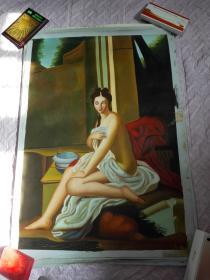 布面油画一张(99X69公分 包手绘)裸体人物【包快递】.......