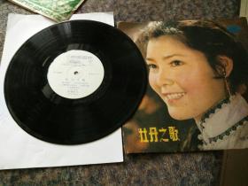 黑胶木唱片,电影电视歌曲,牡丹之歌一张二面,一九八一年出版。