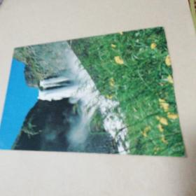 明信片  长白山瀑布