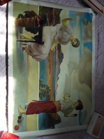 布面油画一张(99X69公分 包手绘)【包快递】.....