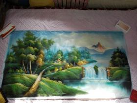 布面油画一张(125X85公分 包手绘)风景【包快递】