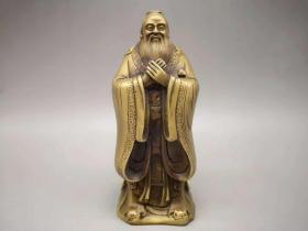 黄铜孔子像