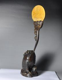 铜器 摆件金蟾望月