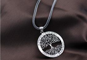 925纯银吊坠 纯银生命之树吊坠 时尚大气代表生命蓬勃向上,工艺精湛值得永久收藏