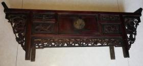 民国雕刻精美人物刘海戏金蟾图暗八仙兵器谱图桌几炕几包老好品