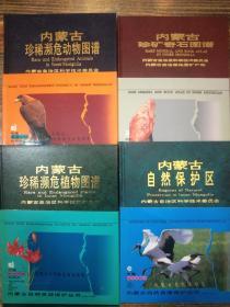 内蒙古自然资源保护丛书 《内蒙古珍稀濒危动物图谱》《内蒙古珍稀濒危植物图谱》《内蒙古自然保护区》《内蒙古珍矿奇石图谱》四册全