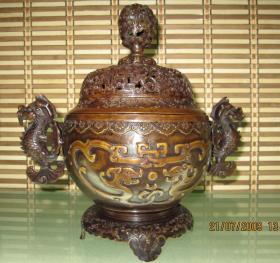 铜龙鱼耳炉