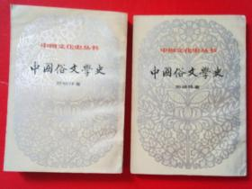 中国俗文学史     上下册    竖版