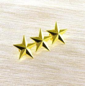 极品顶级美国三星中将军衔金色徽章不掉色可佩带西服上质量上乘堪比原品值得佩戴和收藏