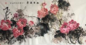 【保真】山西省美协会员、知名画家郭有树作品:粉玉温香