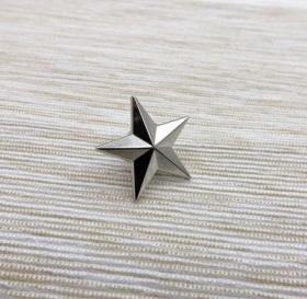 极品顶级美国五角星一星准将军衔银色徽章不掉色可佩带西服上质量上乘堪比原品值得佩戴和收藏