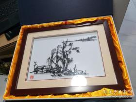 安徽芜湖 储氏铁画  38厘米29厘米