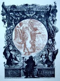 """""""新艺术名作""""亨利·奥斯波瓦特(Henry OSPOVAT,1877—1909)藏书票 1898"""
