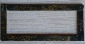 民国二十九年时任国军军长黄维用手工刻山水画铜矩尺,镇纸