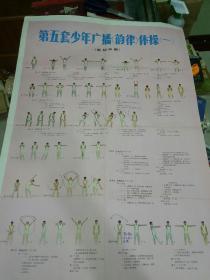 第五套少年广播(韵律)体操  ,挂图,全开