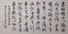 【保真】河北省书协会员、知名书法家曲志栋草书作品:曹操《观沧海》