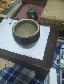 清代小黑釉陶罐