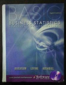 Basic business statistics concepts and Applications【英文原版;基本业务统计概念及应用】附光盘  Mark L. Berenson       Prentice Hall   9780130903006