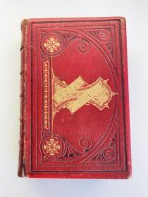 英文原版 The Poetical Works and Letters of Robert Burns 诗集 书信集 皮面精装 钢版画插图 1880年左右出版