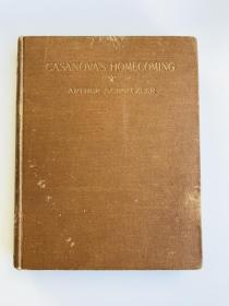 英文原版 Casanovas Homecoming Golden Cockerel Press 金鸡出版社印刷 1920年左右出版