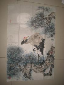 中国著名画家书法家王华义国画作品.花鸟画一幅【赠王华义画集一本】
