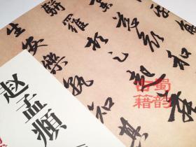 赵孟頫闲居赋书墨迹珍品原色放大系列品名家之笔