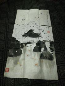 姚雷国画小品:山亭对奕图(7)86cm*45cm