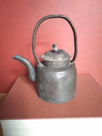 """""""胡源泰""""款锡铁小茶壶小酒壶【或为民国时期的铁器类酒壶】"""
