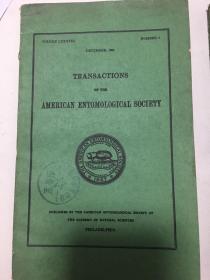 transactions of the american entomological society(美国昆虫学会论文集1962全年1-4)