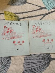 文革会议记录本(三代会记录本)两册