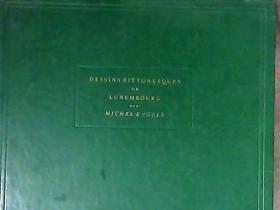 DESSINS PITTORESQUES DE LUXEMBOURG(1851-1901) 1969年发行的外国建筑艺术画册 签名本 书名及签名请买家自鉴
