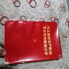 毛泽东的无产阶级革命路线胜利万岁