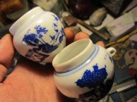 青花鸟食罐