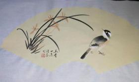【保真】河南省美协、书协双料会员许墨精品扇面:幽香四溢